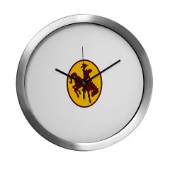 UW - M01 - 03 - SSI - ROTC - University of Wyoming - Modern Wall Clock