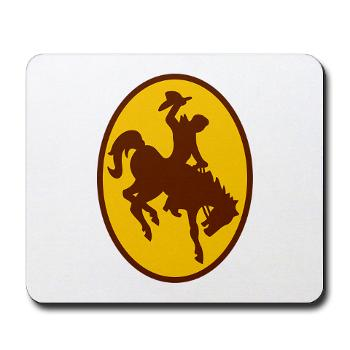 UW - M01 - 03 - SSI - ROTC - University of Wyoming - Mousepad