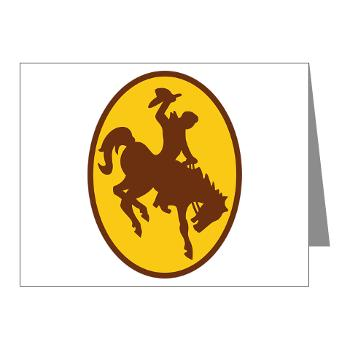 UW - M01 - 02 - SSI - ROTC - University of Wyoming - Note Cards (Pk of 20)