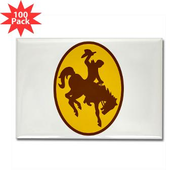 UW - M01 - 01 - SSI - ROTC - University of Wyoming - Rectangle Magnet (100 pack)