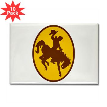 UW - M01 - 01 - SSI - ROTC - University of Wyoming - Rectangle Magnet (10 pack)