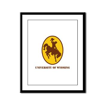 UW - M01 - 02 - SSI - ROTC - University of Wyoming with Text - Framed Panel Print