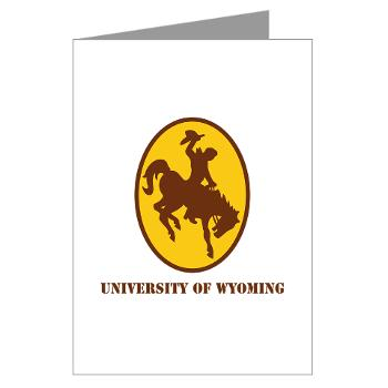 UW - M01 - 02 - SSI - ROTC - University of Wyoming with Text - Greeting Cards (Pk of 10)
