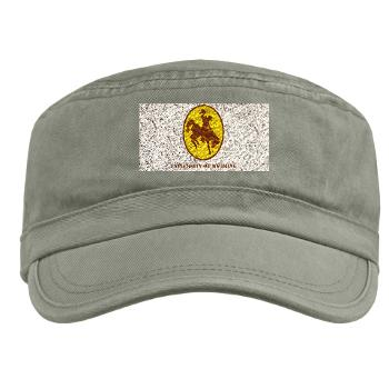 UW - A01 - 01 - SSI - ROTC - University of Wyoming with Text - Military Cap