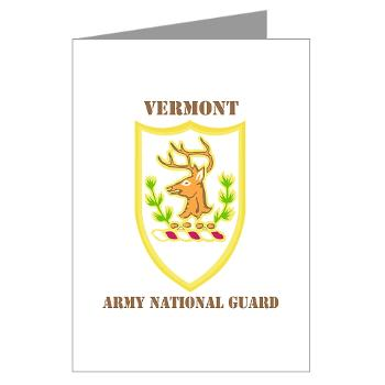 VARNG - M01 - 02 - DUI - Vermont Army National Guard with Text - Greeting Cards (Pk of 20)