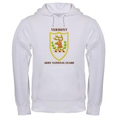 VARNG - A01 - 03 - DUI - Vermont Army National Guard with Text - Hooded Sweatshirt