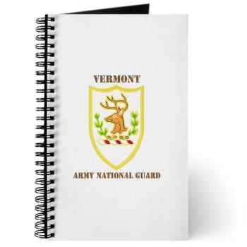 VARNG - M01 - 02 - DUI - Vermont Army National Guard with Text - Journal