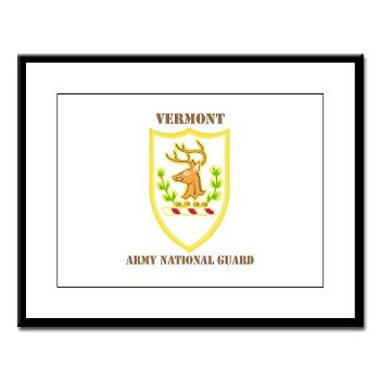VARNG - M01 - 02 - DUI - Vermont Army National Guard with Text - Large Framed Print