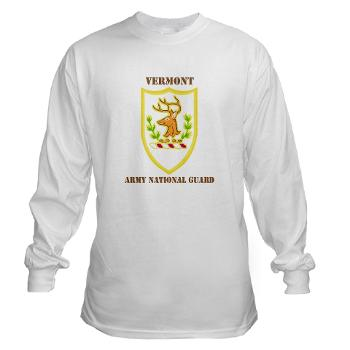 VARNG - A01 - 03 - DUI - Vermont Army National Guard with Text - Long Sleeve T-Shirt