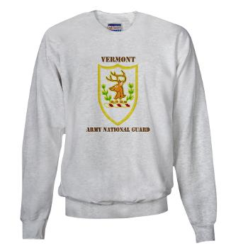 VARNG - A01 - 03 - DUI - Vermont Army National Guard with Text - Sweatshirt