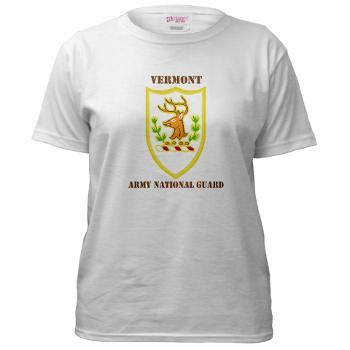 VARNG - A01 - 04 - DUI - Vermont Army National Guard with Text - Women's T-Shirt