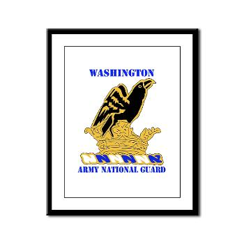 WAARNG - M01 - 02 - DUI - Washington Army National Guard with Text - Framed Panel Print