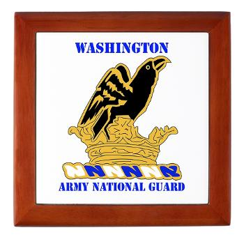 WAARNG - M01 - 03 - DUI - Washington Army National Guard with Text - Keepsake Box