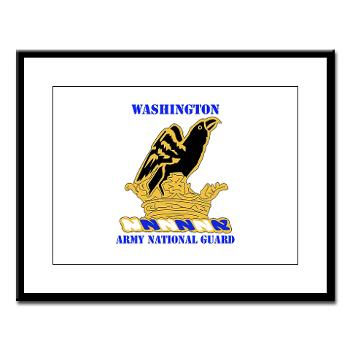 WAARNG - M01 - 02 - DUI - Washington Army National Guard with Text - Large Framed Print