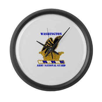 WAARNG - M01 - 03 - DUI - Washington Army National Guard with Text - Large Wall Clock