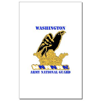 WAARNG - M01 - 02 - DUI - Washington Army National Guard with Text - Mini Poster Print