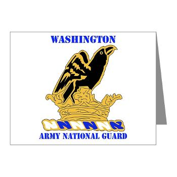 WAARNG - M01 - 02 - DUI - Washington Army National Guard with Text - Note Cards (Pk of 20)