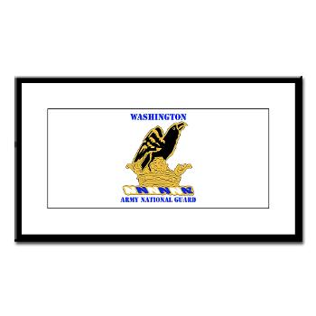 WAARNG - M01 - 02 - DUI - Washington Army National Guard with Text - Small Framed Print