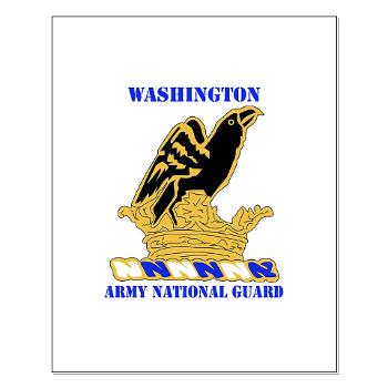 WAARNG - M01 - 02 - DUI - Washington Army National Guard with Text - Small Poster