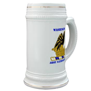 WAARNG - M01 - 03 - DUI - Washington Army National Guard with Text - Stein