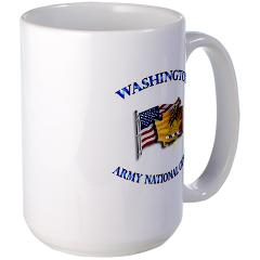 WAARNG - M01 - 03 - DUI - Washington Army National Guard with Flag Large Mug