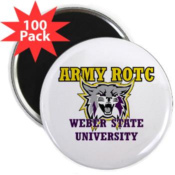 "WSUROTC - M01 - 01 - Weber State University - ROTC - 2.25"" Magnet (100 pack)"