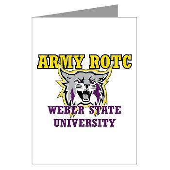 WSUROTC - M01 - 02 - Weber State University - ROTC - Greeting Cards (Pk of 10)