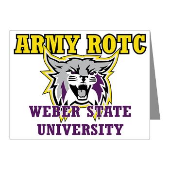 WSUROTC - M01 - 02 - Weber State University - ROTC - Note Cards (Pk of 20)