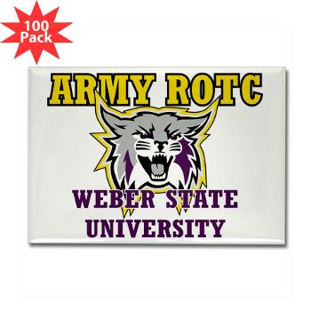 WSUROTC - M01 - 01 - Weber State University - ROTC - Rectangle Magnet (100 pack)