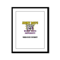 WSUROTC - M01 - 02 - Weber State University - ROTC with Text - Framed Panel Print
