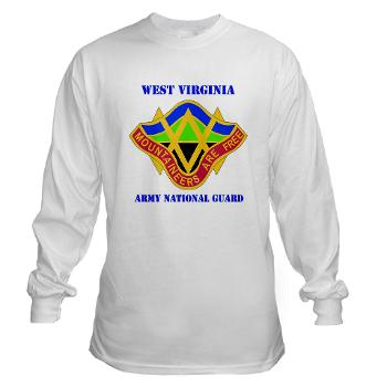 WVARNG - A01 - 03 - DUI - West virginia Army National Guard with text - Long Sleeve T-Shirt