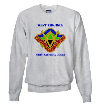 WVARNG - A01 - 03 - DUI - West virginia Army National Guard with text - Sweatshirt