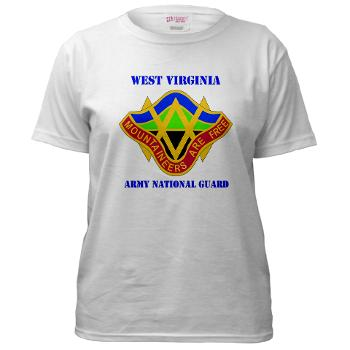 WVARNG - A01 - 04 - DUI - West virginia Army National Guard with text - Women's T-Shirt