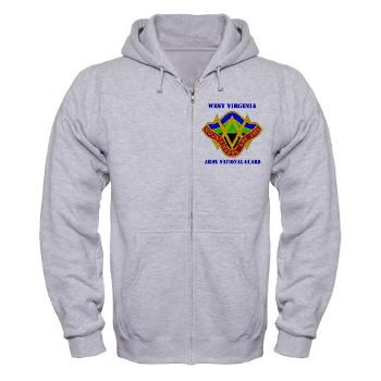 WVARNG - A01 - 03 - DUI - West virginia Army National Guard with text - Zip Hoodie