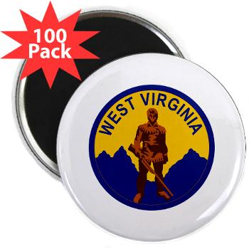 "WVU - M01 - 01 - SSI - ROTC - West Virginia University - 2.25"" Magnet (100 pack)"