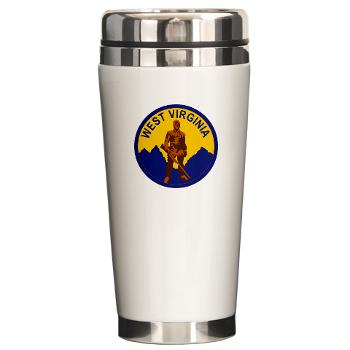 WVU - M01 - 03 - SSI - ROTC - West Virginia University - Ceramic Travel Mug