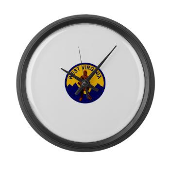 WVU - M01 - 03 - SSI - ROTC - West Virginia University - Large Wall Clock