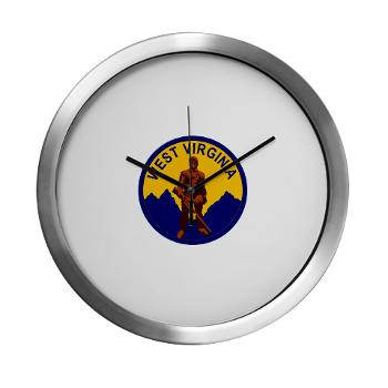 WVU - M01 - 03 - SSI - ROTC - West Virginia University - Modern Wall Clock