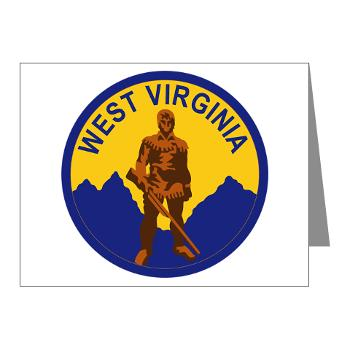 WVU - M01 - 02 - SSI - ROTC - West Virginia University - Note Cards (Pk of 20)