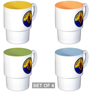 WVU - M01 - 03 - SSI - ROTC - West Virginia University - Stackable Mug Set (4 mugs)
