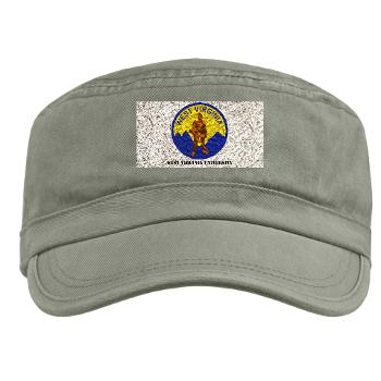 WVU - A01 - 01 - SSI - ROTC - West Virginia University with Text - Military Cap
