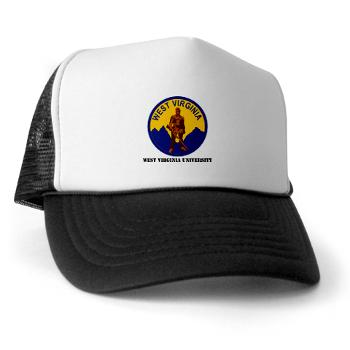 WVU - A01 - 02 - SSI - ROTC - West Virginia University with Text - Trucker Hat