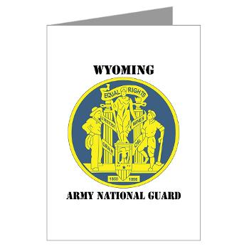 WYARNG - M01 - 02 - DUI - WYOMING Army National Guard with Text - Greeting Cards (Pk of 10)