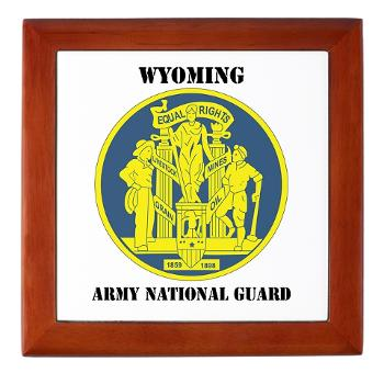 WYARNG - M01 - 03 - DUI - WYOMING Army National Guard with Text - Keepsake Box