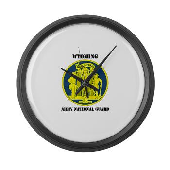 WYARNG - M01 - 03 - DUI - WYOMING Army National Guard with Text - Large Wall Clock
