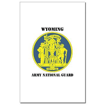 WYARNG - M01 - 02 - DUI - WYOMING Army National Guard with Text - Mini Poster Print