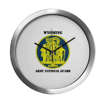 WYARNG - M01 - 03 - DUI - WYOMING Army National Guard with Text - Modern Wall Clock