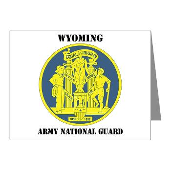 WYARNG - M01 - 02 - DUI - WYOMING Army National Guard with Text - Note Cards (Pk of 20)
