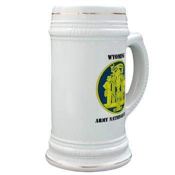 WYARNG - M01 - 03 - DUI - WYOMING Army National Guard with Text - Stein