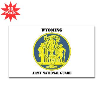 WYARNG - M01 - 01 - DUI - WYOMING Army National Guard with Text - Sticker (Rectangle 50 pk)